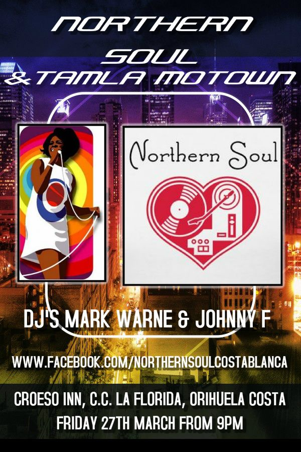 Our next Northern Soul Night here in the Costa Blanca! #northernsoul #tamlamotown
