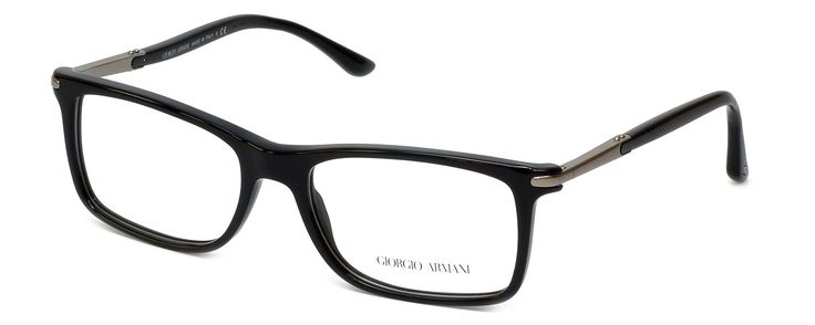 """GIORGIO ARMANI Eyeglasses AR 7005 5017 Black 54MM. 5.25"""" Frame Width 1.5"""" Lens Height. Authentic Giorgio Armani Designer Optical Eyewear ; Hand Crafted in Italy. Includes Original Giorgio Armani Carrying Case. Spring Hinged for Added Comfort. Demo Lens ; No Power. RX Ready."""