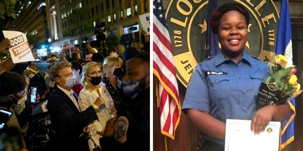 Blm Mob Demand Rand Paul Say Breonna Taylor S Name He Authored The Justice For Breonna Taylor Act The Post Millennial News Politic Taylor Name Mob Justice