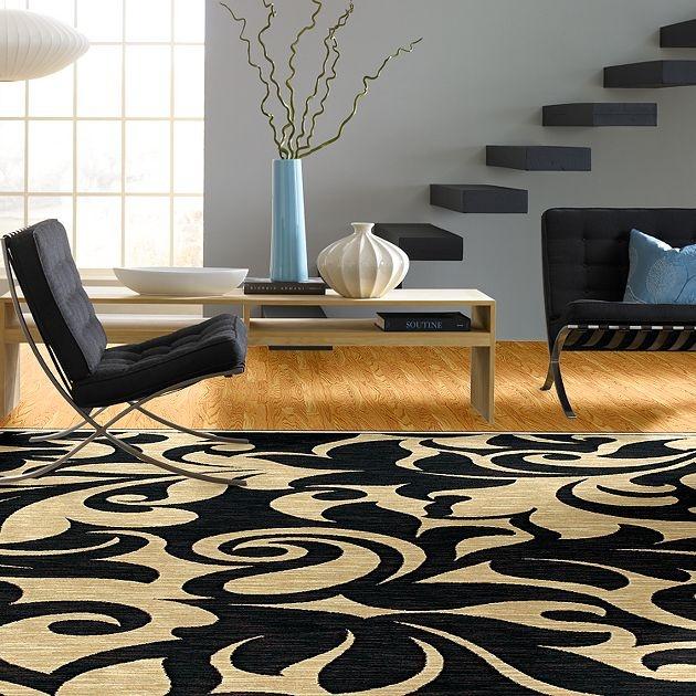 AreaRug Corinth - 3VE58 - Black - Flooring by Shaw