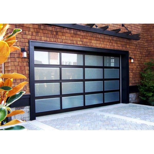 Modern Classic 9'x7' Aluminum Framed Contemporary Garage Door - Garage Doors - Northwest Door - Installed prices for Seattle-Bellevue-Tacoma