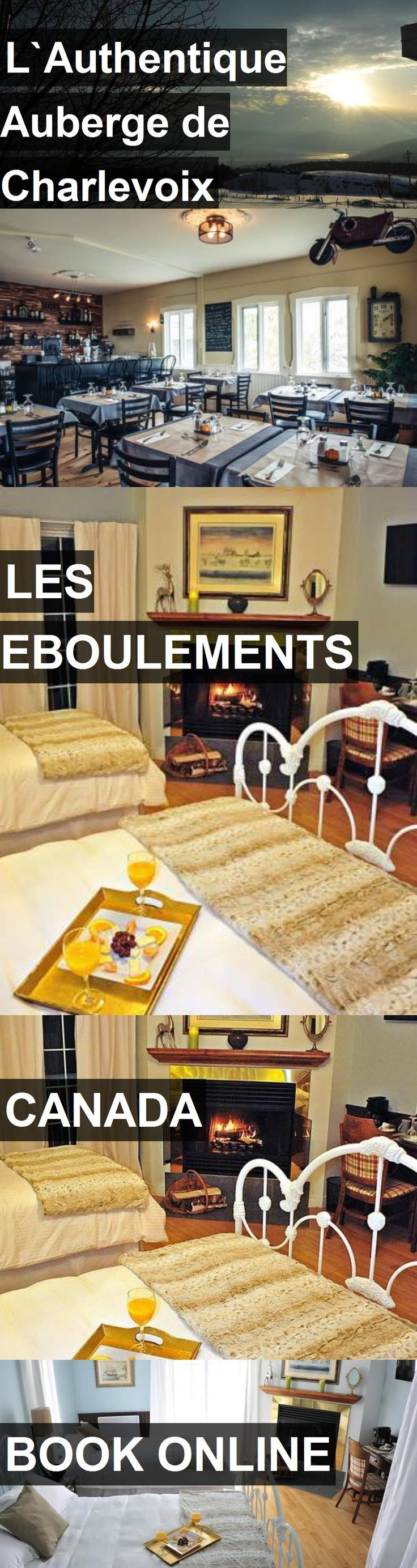Hotel L`Authentique Auberge de Charlevoix in Les Eboulements, Canada. For more information, photos, reviews and best prices please follow the link. #Canada #LesEboulements #travel #vacation #hotel