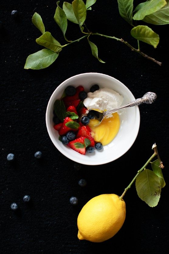 We'd take second helpings of homemade lemon curd with fresh berries, mint and cream.