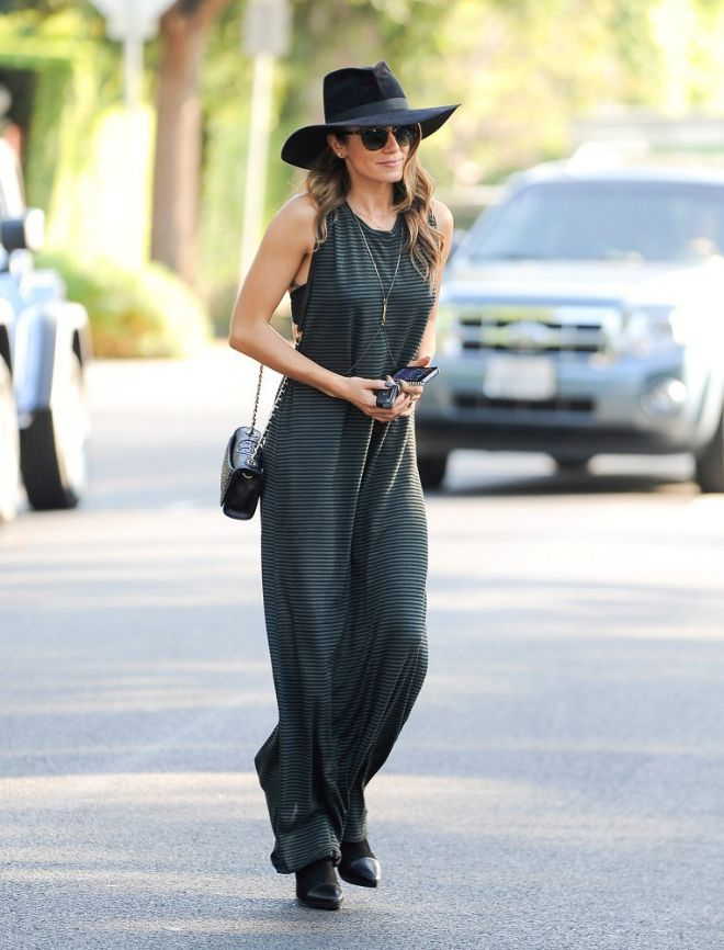 Nikki Reed's All Black Maxi-Dress Look