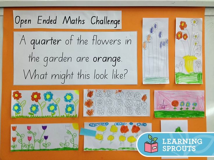 An open ended mathematics question to help students explore the concept of fractions of a group. Students can choose how many flowers in the garden but can be challenged to choose a number that is a multiple of 4.