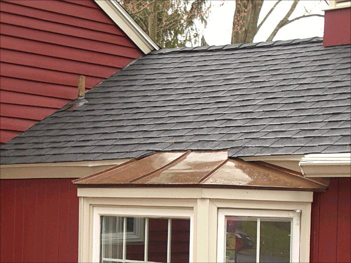 Standing Seam Copper Roof