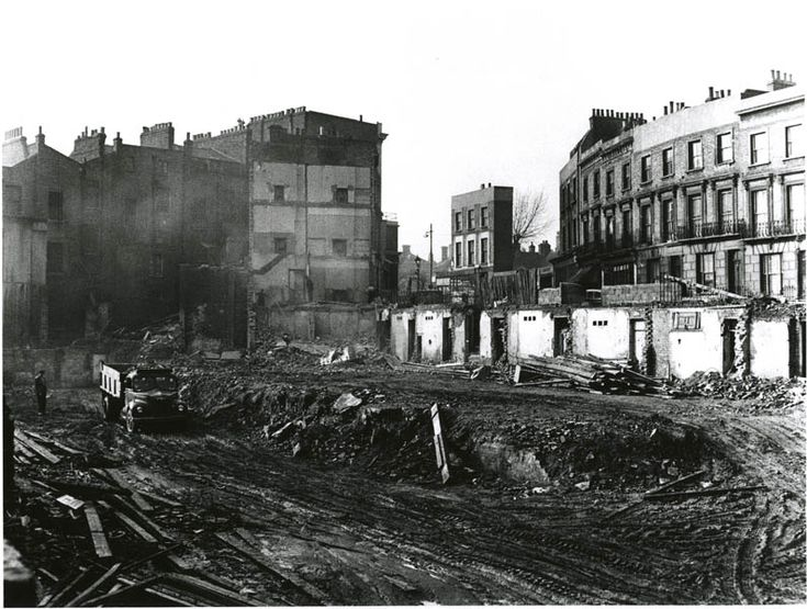 Demolishing slum properties | Clarendon Crescent, Paddington, London, England