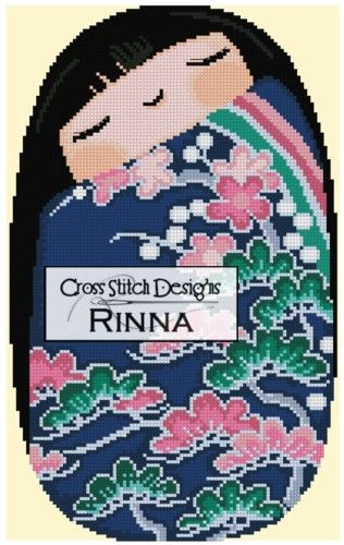 Kokeshi Chibi Doll Cross Stitch Designs Rinna
