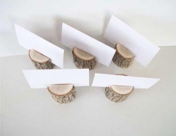 Birch Wood Place Card Holder