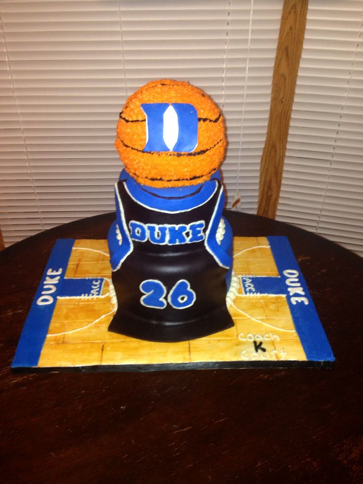 Duke basketball cake