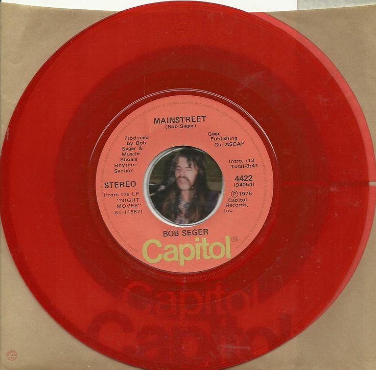 BOB SEGER MAINSTREET RED VINYL CANADA GROUP DETROIT MICHIGAN ROCK 45 RPM RECORD #HardRock