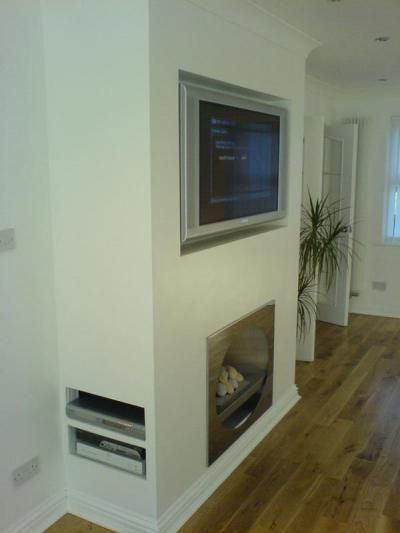 Storage faux chimney breast