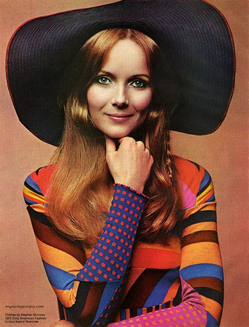 Coty Cosmetics / Clothes by Stephen Burrows 1971 | myvintagevogue