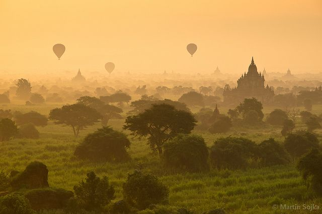 Bagan Balloons ~ Myanmar (Burma) by Martin Sojka .. www.VisualEscap.es, via Flickr