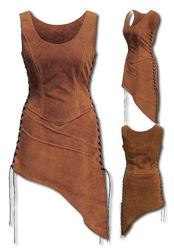 Farbe: HELLBRAUN Diese edle Frauenrüstung von Andracor, aus reißfestem aber we…
