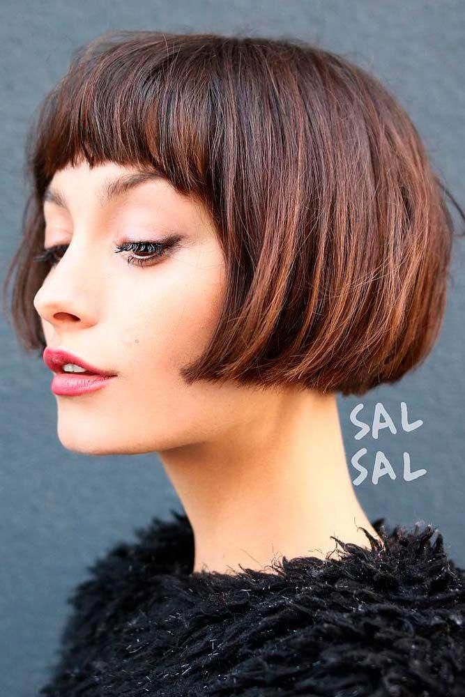Bob Haircut With French Fringe ❤ Find Your Perfect From These Pretty Popular Short Haircuts! ❤ #lovehairstyles #hair #hairstyles #shorthair
