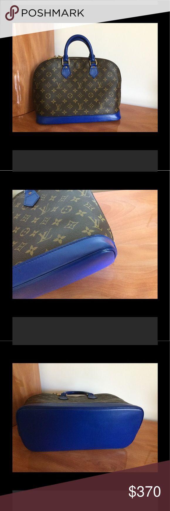 """LV Louis Vuitton Alma Bag Authentic bag. Alma model. H: 9.2"""", D: 6.2"""". Clean inside. Louis Vuitton Bags Satchels"""