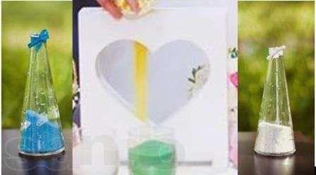 сосуд сердце - рамка для свадебной песочной церемонии Киев - изображение 1