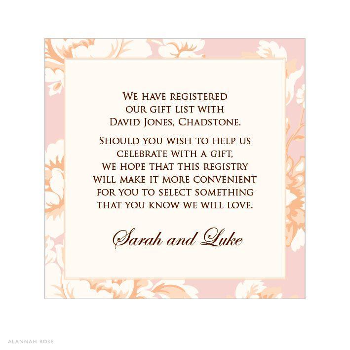 Gift Card For Bridal Shower Wording