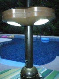 This Battery Operated Patio Umbrella Light Works In Two Ways   Shine It  Down For A