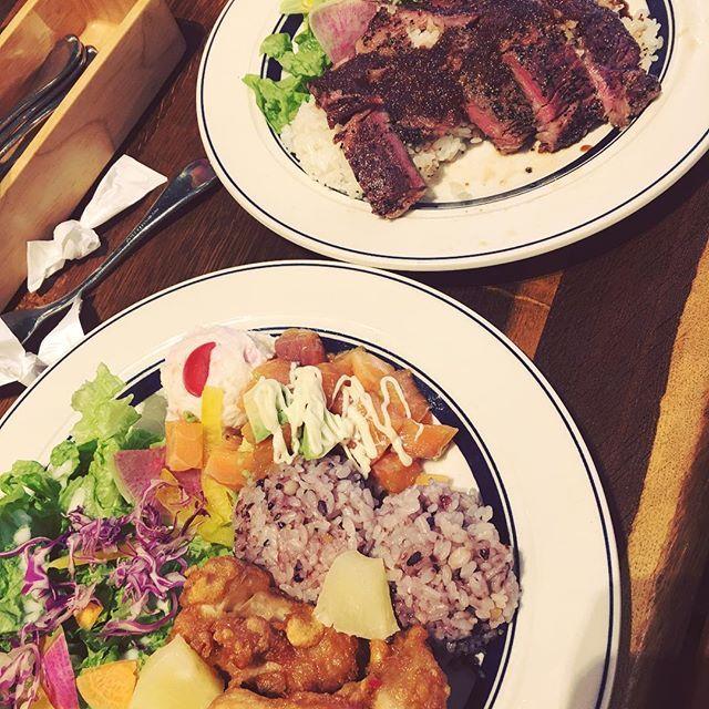 The 肉 ご飯❤︎#hawaii #hawaiian #restaurant #肉 #お肉 #ハワイ #ハワイアン #料理 #meat #lunch #ご飯 #하와이 #요리 #goodtime #joy #fun #yummy #dayoff #휴일 #점심 #밥 #고기 #맛있다 #친구