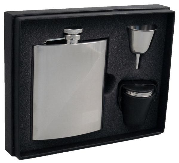 Duo Two-Tone 8oz Deluxe Flask Gift Set #groomsmen #groomsmengifts #gift #giftideas #giftsforgrads