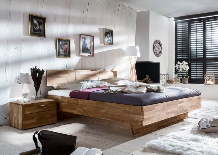 Massivholzbett wildeiche  The 26 best images about Bett on Pinterest | Wood beds, Wake up ...