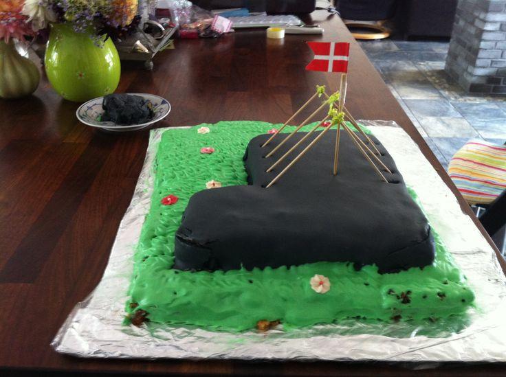 Rejsegilde kagen.....som Kiksede ;O) September 2013