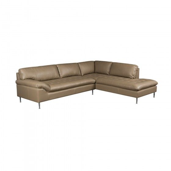Avalon right facing 2 piece chaise sectional in black for Bonded leather sectional with chaise