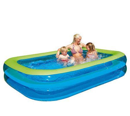 HAPPY PEOPLE Familien Pool aufblasbar TÜV geprüft 262x175x50cm