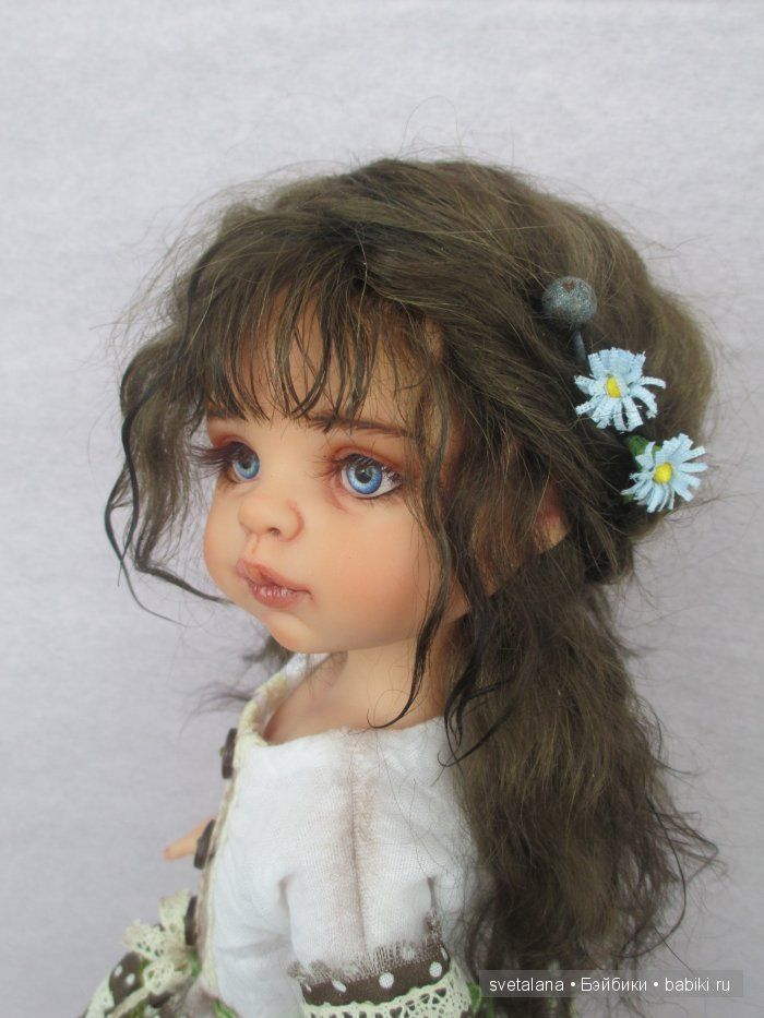 Незабудка... ООАК куклы Паола Рейна / Paola Reina, Antonio Juan и другие испанские куклы / Бэйбики. Куклы фото. Одежда для кукол