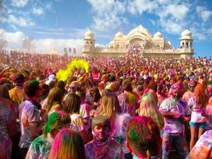 Sri Sri Radha Krishna Temple, Utah County, Utah - The annual Holi...