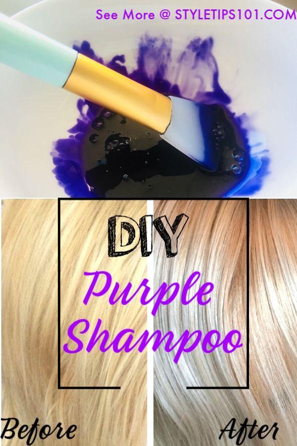 Diy Purple Shampoo Curls Purple Shampoo Diy Hair Toner
