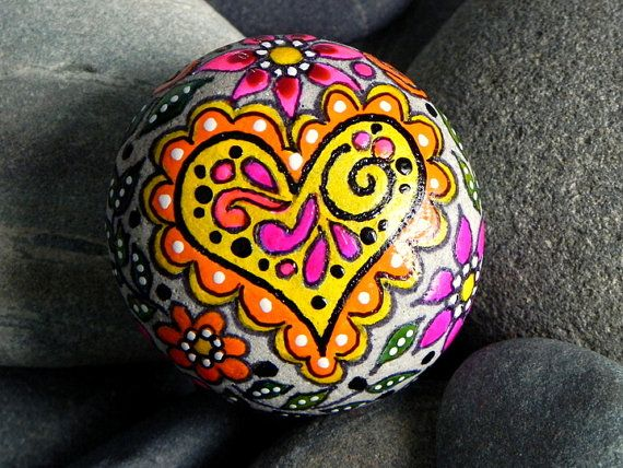 Fairy Tale Love / Painted Rock / Sandi Pike by LoveFromCapeCod, $35.00