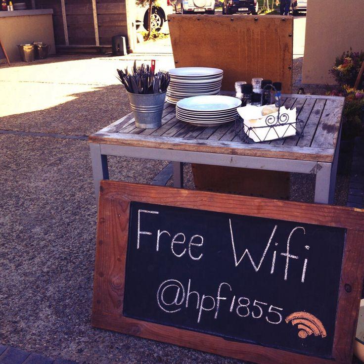 Free wifi at @ Hermanuspietersfontein, #Hermanus.