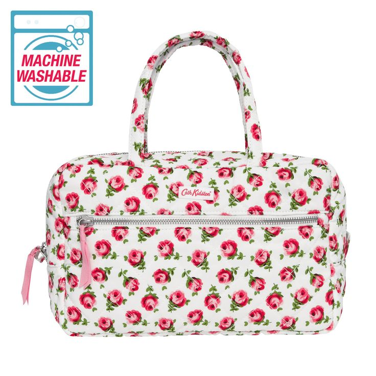 Button Rose | Button Rose Quilted Large Cosmetic Bag | CathKidston