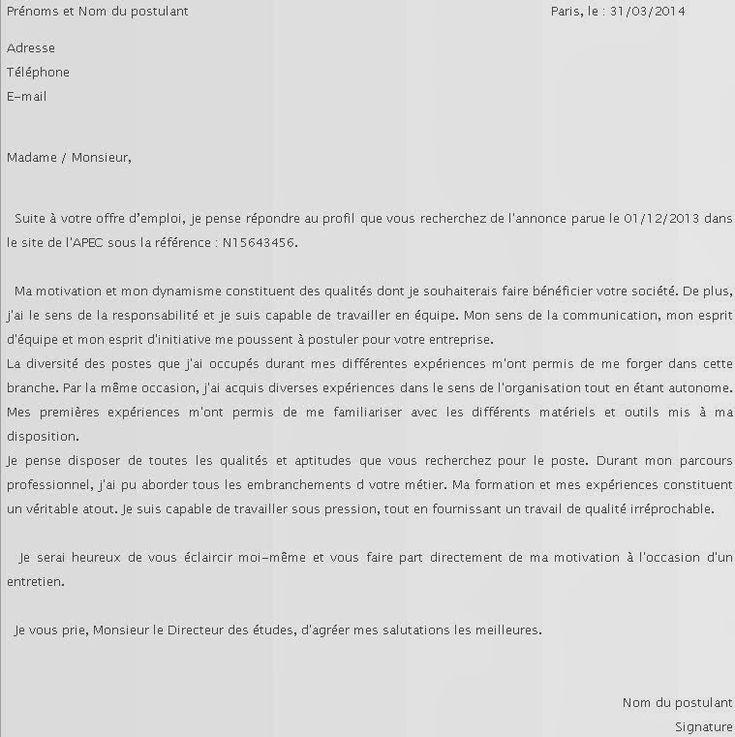 lettre de motivation emploi saisonnier modele cv lettre