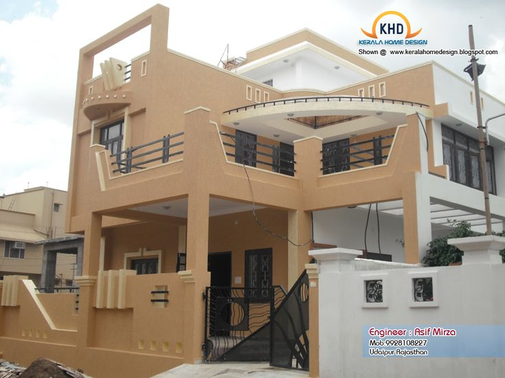 Home Design Awesome And Beautiful Inspiration Stylish Featuring Brown Wall Paint Black Balustrade Of Balcony Plus