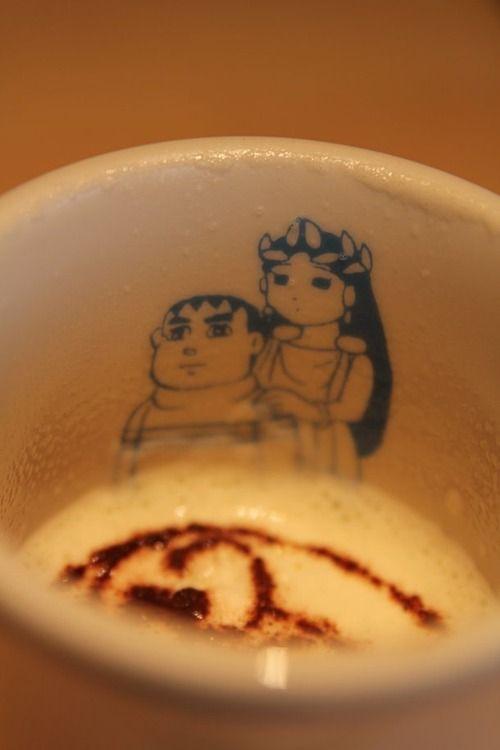 あなたが落としたのは、きれいなジャイアンですか?カフェラテ  (via http://attrip.jp/135593/ )
