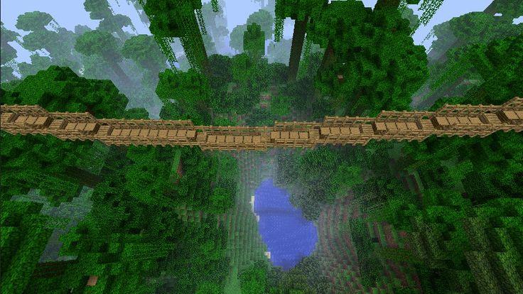 Minecraft Rope Bridge Jungle spawn minecraft project