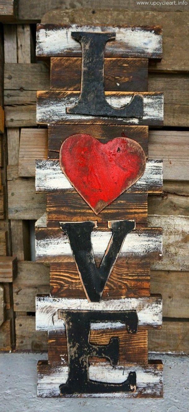 pallet wall love art More