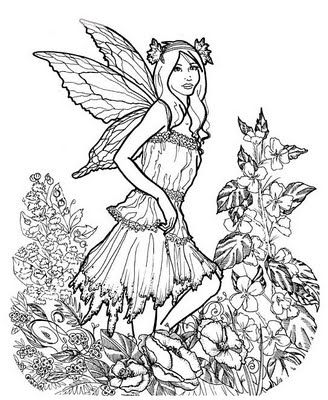 advanced coloring pages for adults here is a very detailed fairy coloring page that older