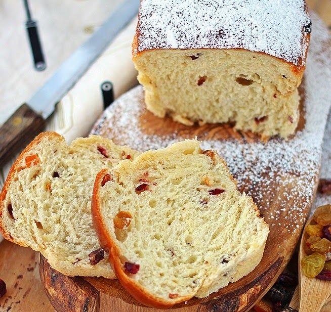Pão de Cream Cheese e Frutas Secas - Máquina de Pão