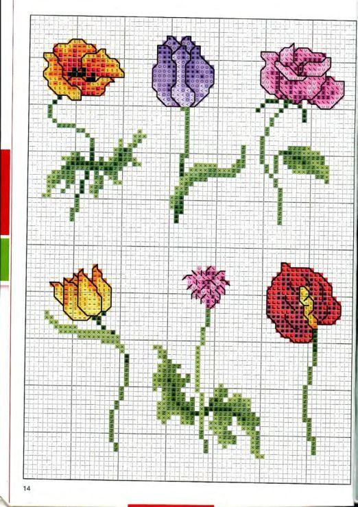 Gallery.ru / Фото #14 - Вышиваем крестом цветы, букеты, деревья - tymannost