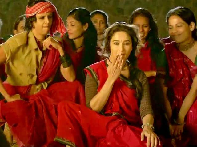 Gulaab Gang inspires with Dheemi Dheemi Si http://www.ndtv.com/video/player/news/gulaab-gang-inspires-with-dheemi-dheemi-si/309395
