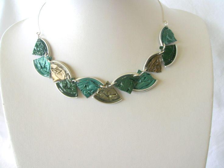 Splitter-Halskette+grün+von+Fanori+Jewelry+auf+DaWanda.com