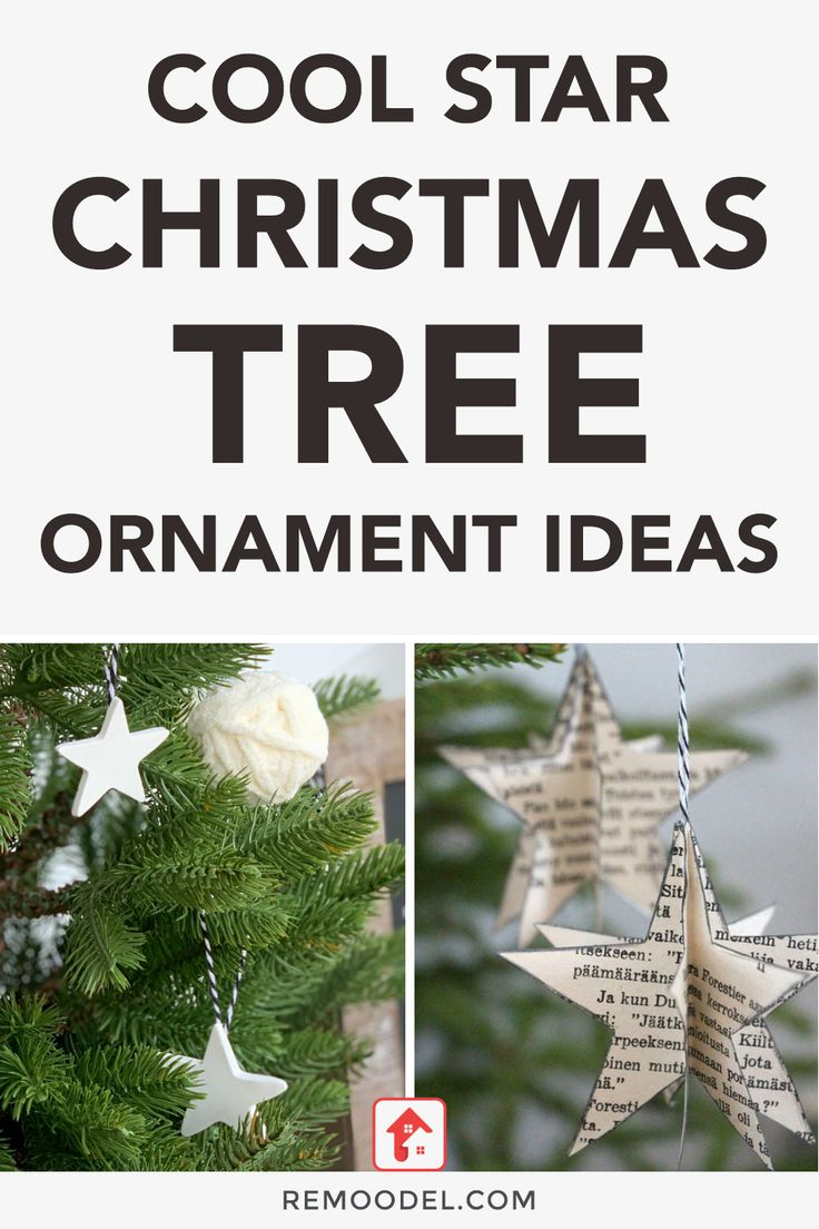 Cool Star Christmas Tree Ornament Ideas in 2020 How to
