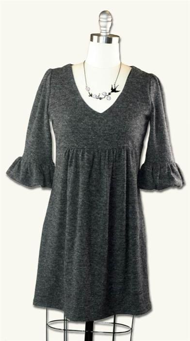 beautiful purses LITTLE PIGEON TUNIC DRESS   39 95  Antebellum sleeves  graceful v neck  and empire waisted bodice invite boots and sweater tights  Kitten soft acrylic blend