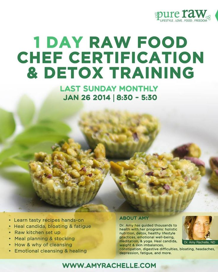 1 day intensive raw food and detox workshop - Last Sunday of every month