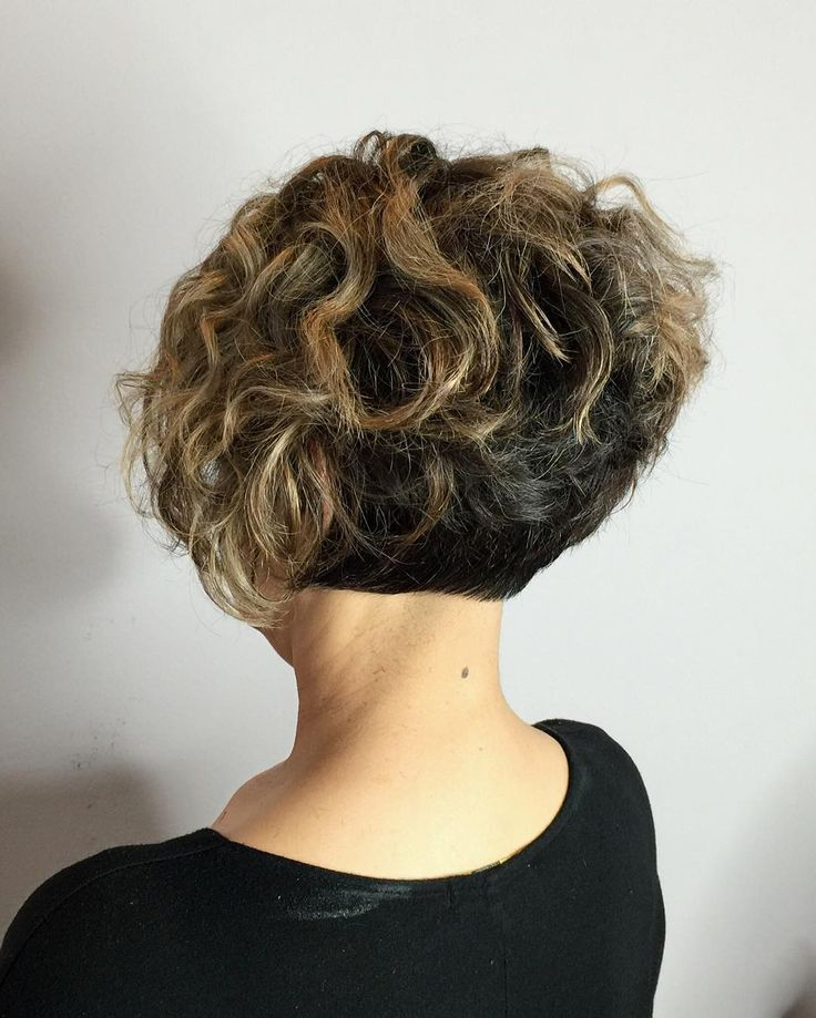 Two-Tone Short Curly Bob